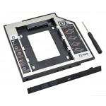 """Салазки для установки HDD, SSD 2.5"""" SATA в отсек для оптического привода толщиной 9,5 мм"""