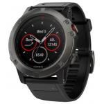 Часы Garmin Fenix 5X Sapphire черные, с черным резиновым ремешком