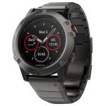 Часы Garmin Fenix 5X Sapphire с металлическим браслетом