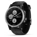 Часы Garmin Fenix 5S Plus (Серые, Черный ремешок)