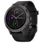 Часы Garmin Vivoactive 3 (Черные, Черный ремешок)