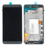 801N дисплей в сборе с тачскрином и передней панелью для HTC для One LTE 801N черный