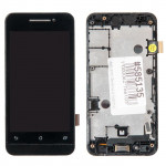 A450CG дисплей в сборе с тачскрином и передней панелью для ASUS для ZenFone 4 A400CG черный царапины потертости