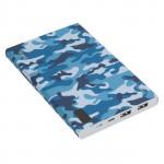 6957531077206 внешний аккумулятор HOCO b33A-20000 2 USB с дисплеем camouflage series (20000mAh), синий камуфляж